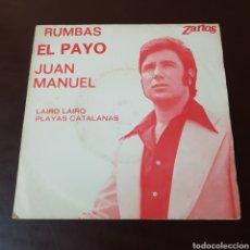 Discos de vinilo: RUMBAS EL PAYO JUAN MANUEL - LAIRO LAIRO - PLAYAS CATALANAS - ZARTOS. Lote 235737040