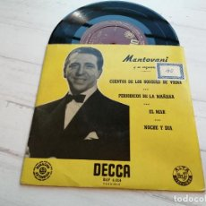 Discos de vinilo: MANTOVANI Y SU ORQUESTA* – CUENTOS DE LOS BOSQUES DE VIENA + 3 EP SPAIN VINILO VG++/PORTADA EX+. Lote 235752655