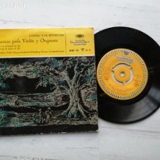 Discos de vinilo: LUDWIG VAN BEETHOVEN ROMANZAS PARA VIOLÍN Y SG SPAIN 1953 VINILO NM PORTADA EX CLASICA. Lote 235787180