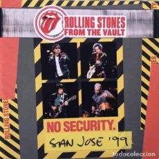 Discos de vinilo: THE ROLLING STONES NO SECURITY. SAN JOSE '99 (3XLP) . VINILO DIRECTO KEITH RICHARDS. Lote 235788405