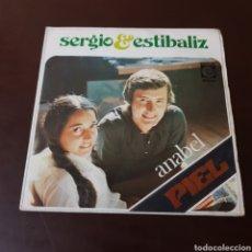 Discos de vinilo: SERGIO Y ESTIBALIZ - ANABEL - PIEL - NOVOLA. Lote 235789875