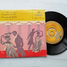 Discos de vinilo: CARL MARIA VON WEBER - BAMBERGER SYMPHONIKER, FERDINAND LEITNER – SG SPAIN 1959 EX/EX. Lote 235792255