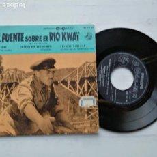 Discos de vinilo: BSO – EL PUENTE SOBRE EL RIO KWAÏ EP SPAIN 1958 VINILO NM PORTADA EX. Lote 235797195