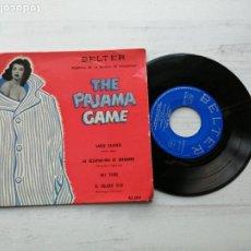 Discos de vinilo: THE PAJAMA GAME BSO EP SPAIN 1958 VINILO EX PORTADA CON UN ROTO DETRÁS. Lote 235798405