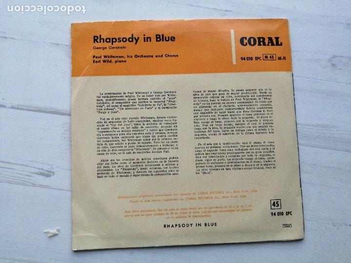 Discos de vinilo: Paul Whiteman And His Orchestra, Earl Wild – Rhapsody In Blue EP SPAIN 1958 - Foto 2 - 235801440