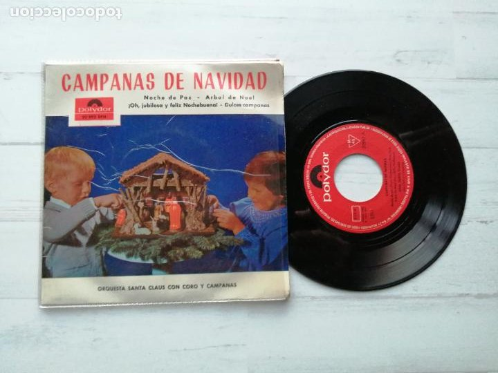 ORQUESTA SANTA CLAUS CON CORO Y CAMPANAS* – CAMPANAS DE NAVIDAD EP SPAIN 1964 EX/EX (Música - Discos de Vinilo - EPs - Orquestas)