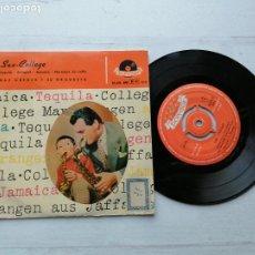 Discos de vinilo: MAX GREGER Y SU ORQUESTA* – SAX-COLLEGE EP SPAIN 1958 EX/EX JAZZ. Lote 235805070