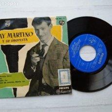 Discos de vinilo: RAY MARTINO Y SU ORQUESTA* – LA PELIRROJA EP SPAIN 1958 JAZZ LATIN VINILO Y PORTADA NM. Lote 235805545