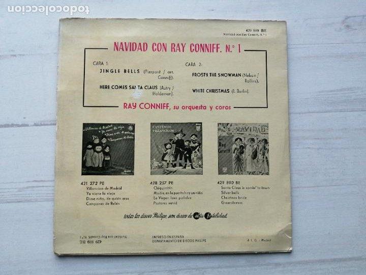 Discos de vinilo: Ray Conniff Su Orquesta Y Coros* – Navidad Con Ray Conniff, Nº 1 EP SPAIN 1960 Jazz EX/EX - Foto 2 - 235806000
