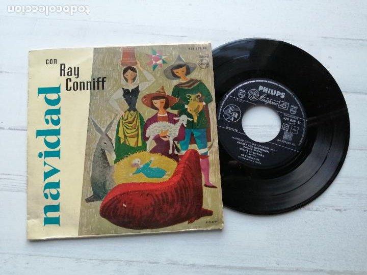 RAY CONNIFF SU ORQUESTA Y COROS* – NAVIDAD CON RAY CONNIFF, Nº 1 EP SPAIN 1960 JAZZ EX/EX (Música - Discos de Vinilo - EPs - Orquestas)