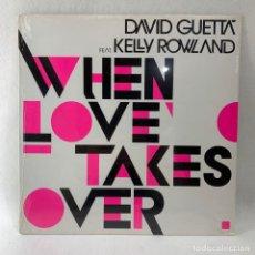 Discos de vinilo: LP DAVID GUETTA FEAT. KELLY ROWLAND - WHEN LOVE TAKES OVER - FRANCIA - AÑO 2009 - NUEVO. Lote 235807825
