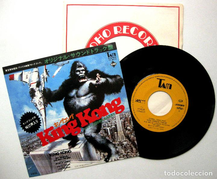 JOHN BARRY - KING KONG - SINGLE TAM 1976 JAPAN (EDICIÓN JAPONESA) BPY (Música - Discos - Singles Vinilo - Bandas Sonoras y Actores)