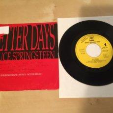 "Discos de vinilo: BRUCE SPRINGSTEEN - BETTER DAYS - SINGLE 7"" RADIO PROMO - 1992. Lote 235834045"