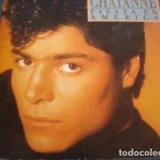 Discos de vinilo: CHAYANNE - FIESTA EN AMERICA + VIOLETA - SINGLE SPAIN 1987. Lote 235835300