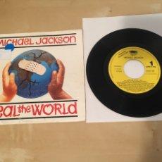 "Discos de vinilo: MICHAEL JACKSON - HEAL THE WORLD - SINGLE 7"" RADIO PROMO - 1992. Lote 235837940"