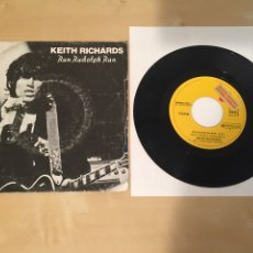"Discos de vinilo: KEITH RICHARDS - RUN RUDOLPH RUN - SINGLE 7"" RADIO PROMO - 1979 THE ROLLING STONES. Lote 235843945"