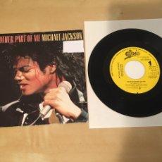 "Discos de vinilo: MICHAEL JACKSON - ANOTHER PART OF ME - SINGLE 7"" RADIO PROMO - 1988. Lote 235844970"