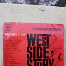 Discos de vinilo: WEST SIDE STORY - ESTA NOCHE / BAILE EN EL GIMNASIO / MARÍA / UNA CHICA ATRACTIVA. Lote 235846105