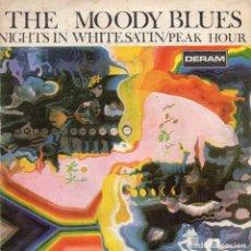 Discos de vinilo: THE MOODY BLUES - NIGHTS IN WHITE SATIN - SINGLE. Lote 235858880