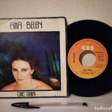 Discos de vinilo: ANTIGUO SINGLE - ANA BELEN - QUE SERA - QUIEN PUDIERA SABER AMAR ED. CBS SPAIN - AÑO 1980. Lote 235859420