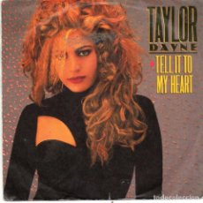 Discos de vinilo: TAYLOR DAYNE - TELL IT TO MY HEART - SINGLE. Lote 235859510