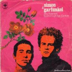 Disques de vinyle: SIMON & GARFUNKEL - MRS.ROBINSON - SINGLE. Lote 235860550