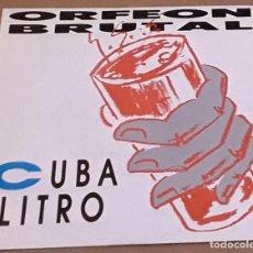 Discos de vinilo: SINGLE - ORFEON BRUTAL - CUBA LITRO / MARY LOLY - ORFEON BRUTAL - CUBALITRO. Lote 235873070