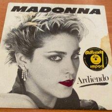 Discos de vinilo: MADONNA (ARDIENDO - BURNING UP + PHYSICAL ATTRACTION) SINGLE ESPAÑA SOLO COVER NO HAY VINILO (EPI21). Lote 235625570