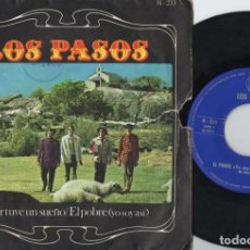 Discos de vinilo: LOS PASOS - AYER TUVE UN SUEÑO - SINGLE DE VINILO. Lote 235887525