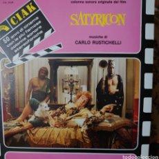 Discos de vinilo: SATYRICON BANDA SONORA DE LA PELÍCULA LP SELLO CINEVOX EDITADO EN ITALIA, MÚSICA: CARLO RUSTICHELLI. Lote 235899995