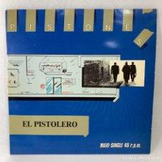 Discos de vinilo: MAXI SINGLE PISTONES - EL PISTOLERO - ESPAÑA - 1983. Lote 235905395