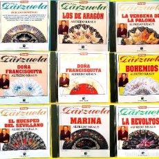 Discos de vinilo: 9 CD TIEMPO DE ZARZUELA,1,3,5,6,7,8,1,11 Y 13. ALFREDO KRAUS, PLÁCIDO DOMINGO, COMO NUEVOS (NM_NM). Lote 235909870