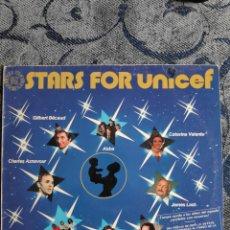 Discos de vinilo: VINILO - STARS FOR UNICEF - ALBUM - LONGPLAY - 33 - JARRE - ABBA - FRIDA - VANGELIS. Lote 235918030