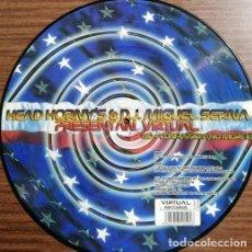 Discos de vinilo: HEAD HORNY'S & DJ. MIGUEL SERNA - VIRTUAL - MAXI SINGLE PICTURE DISC ELECTRONICA HARD HOUSE #. Lote 235928265