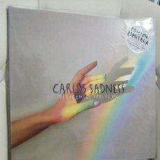 Disques de vinyle: LP CARLOS SADNESS EDICIÓN LIMITADA, VINILO COLOR Y 4 LÁMINAS. Lote 235943685