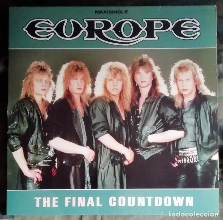 EUROPE – THE FINAL COUNTDOWN SPAIN 1986 (Música - Discos de Vinilo - Maxi Singles - Heavy - Metal)