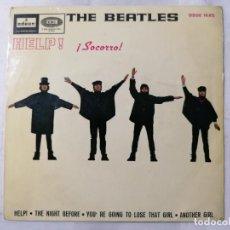 Discos de vinilo: THE BEATLES, HELP Y TRES CANCIONES MAS, AÑO 1965, ODEON, DSOE 16.675. Lote 235960775