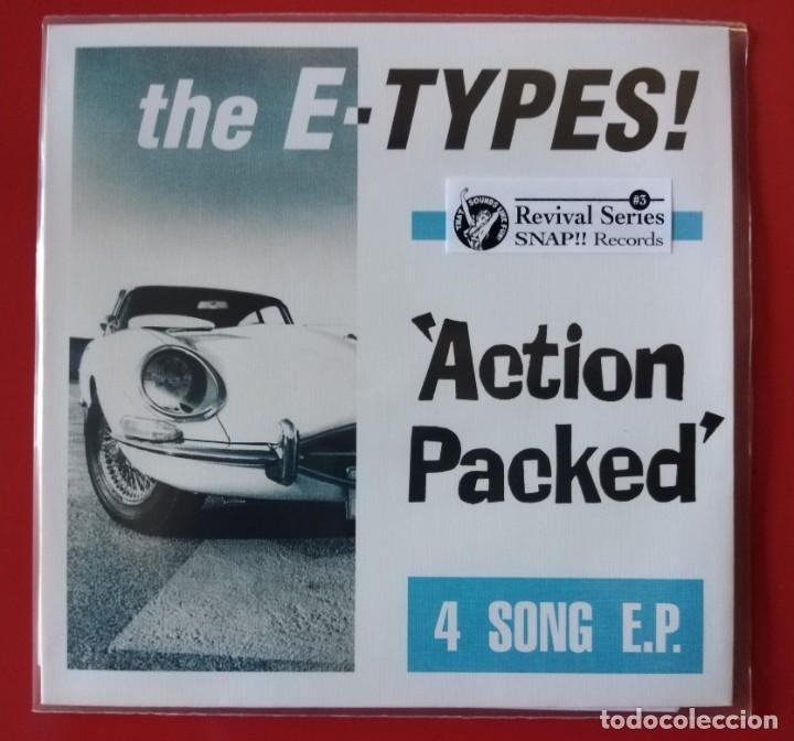 EP THE E-TYPES, ACTION PACKED (Música - Discos de Vinilo - EPs - Pop - Rock Extranjero de los 90 a la actualidad)