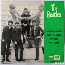 Discos de vinilo: THE BEATLES, ROCK AND ROLL MUSIC Y TRES CANCIONES MAS, AÑO 1964, ODEON, DSOE 16.641. Lote 235962725
