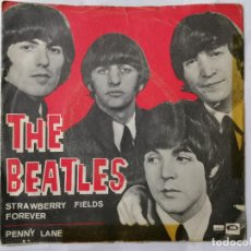 Discos de vinilo: THE BEATLES, STRAWBERRY FIELDS FOREVER / PENNY LANE , AÑO 1967, ODEON, DSOL 66.077. Lote 235964865
