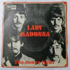 Discos de vinilo: THE BEATLES, LADY MADONNA / THE INNER LIGHT , AÑO 1968, ODEON, DSOL 66.086. Lote 235968135