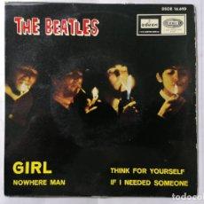 Discos de vinilo: THE BEATLES, NOWHERE MAN Y TRES CANCIONES MAS, AÑO 1966, ODEON, DSOE 16.690. Lote 235974575