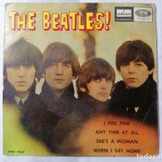 Discos de vinilo: THE BEATLES, I FEEL FINE Y TRES CANCIONES MAS, AÑO 1964, ODEON, DSOE 16.637. Lote 235977535