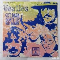Discos de vinilo: THE BEATLES, GET BACK / DON'T LET ME DOWN , AÑO 1969, ODEON, J-006-04.084 M. Lote 235979110