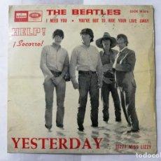Discos de vinilo: THE BEATLES, HELP - YESTERDAY , AÑO 1965, ODEON, DSOE 16.676. Lote 235980965
