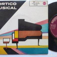 Discos de vinilo: PORTICO MUSICAL - SINGLE SPAIN PS - FIDELIO / ANDALUCIA / CRY ME A RIVER. Lote 235985285
