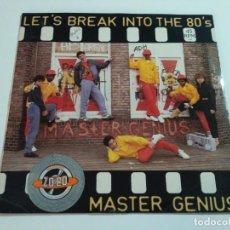 """Discos de vinilo: MASTER GENIUS - LET'S BREAK (12""""). Lote 235993790"""