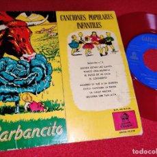 Discos de vinilo: GARBANCITO CUENTO OVIES+CANCIONES POPULARES INFANTILES CORO NIÑAS ORQUESTA EP 1958 SPAIN ESPAÑA. Lote 236002210