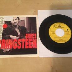 "Discos de vinilo: BRUCE SPRINGSTEEN - 57 CHANNELS - SINGLE 7"" PROMO RADIO - 1992. Lote 236004155"