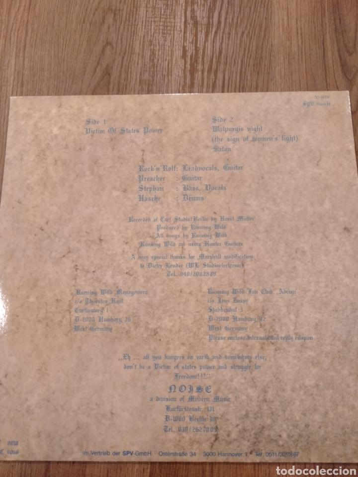 """Discos de vinilo: Running Wild. EP 12"""" """" Victim Of State Power """". Edición Alemana. 1984. Reedición 2014. Vinilo color. - Foto 2 - 236018170"""